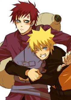 Gaara and Naruto #Anime#Bromance