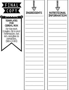 printable cereal box template - Boat.jeremyeaton.co