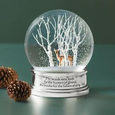 I love snow globes and this one particularly appeals to me.  Birch, snow, & a deer - what more do you need?