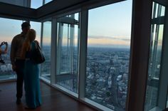 Romantic sunset views at The View from The Shard