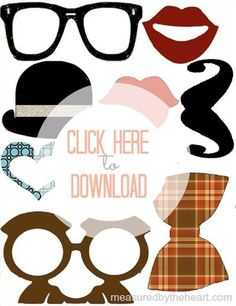 Free Photo Prop Printables by Measured by the | http://partyideacollections.blogspot.com