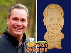 For Dad's special birthday party...order Parker's Crazy Cookies of him...Easy to order and such fun to receive!