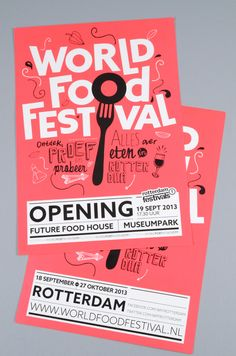 Food infographic Rotterdam World Food Festival -- Event Poster Design Inspiration, Examples & Tem. Infographic Description Rotterdam World Food Festival Event Poster Design, Poster Design Layout, Food Poster Design, Design Brochure, Typography Poster Design, Event Posters, Simple Typography, Food Typography, Event Poster Template
