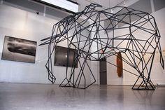 Wireframe Elephant