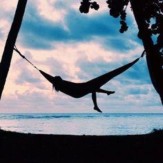 sunset + hammock = paradise
