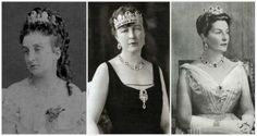 Princess Marie Isabelle of Orléans, Countess of Paris (left, wife of Philippe, Count of Paris), Princess Isabelle of Orléans, Duchess of Guise (center, daughter of Marie Isabelle), Princess Isabelle of Orléans-Braganza, Countess of Paris (right, daughter-in-law of the Duchess of Guise)