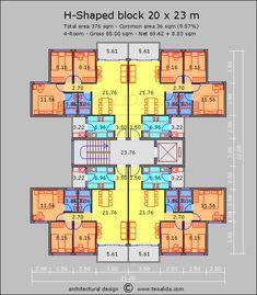 Ideas apartment architecture plans layout for 2019 Building Layout, Home Building Design, Duplex House Plans, Apartment Floor Plans, Apartment Layout, Apartment Design, Architecture Plan, Residential Architecture, Architecture Portfolio