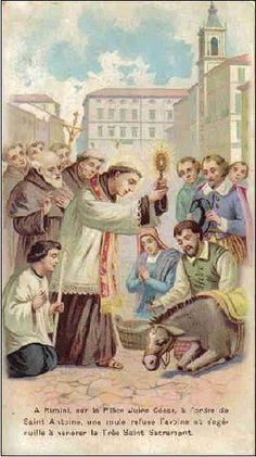 Catholic Art, Catholic Saints, Religious Art, Saint Antony, Saint Anthony Of Padua, Medusa Art, Vintage Holy Cards, St Clare's, Religious Pictures