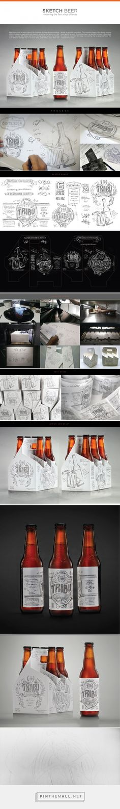 Tribu Sketch Beer packaging design by Tribu DDBº (Costa Rica) - http://www.packagingoftheworld.com/2016/07/tribu-sketch-beer.html