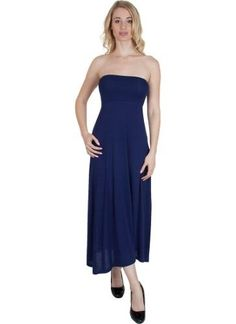 Agiato Apparel Maxi Dress 2 in 1, Women's, Size: Medium, Blue