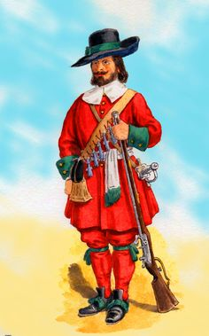 British Coldstream Guards, Musketeer 1669- by Charls Lyall