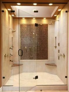 Doubleheaded shower for the master bedroom.
