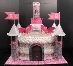 Image result for diaper castle cake