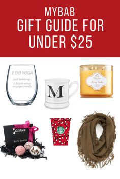 Christmas Gift Guide under $25 for teachers, co-workers, friends