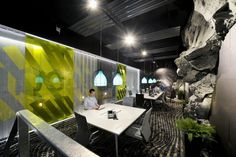Awesome Google Office Design In Zurich With Natural Stone Interior And Indoor Garden Want to Work In this largest office?