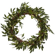 Charlton Home Giada Faux Olive Wreath