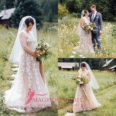 Dunton Hot Spring Mountain Wedding Dresses 2017 Sheer Neck Heavily Embelished Chapel Train Appliqued Backless Church Garden Bridal Gowns Wedding Dresses Beach Bridal Gowns Garden Vintage Wedding Gown Online with 168.0/Piece on Magicdress2011's Store | DHgate.com