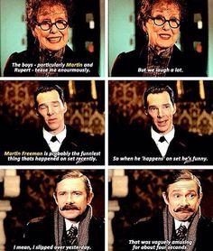 Sherlock cast about Martin Freeman x] (Series 4 Special)