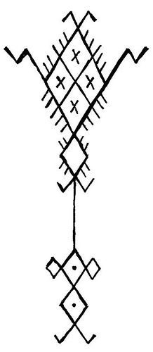 Palm Tree – a symbol of fertility. Gaudry believed this particular pattern might have been related to depictions of the North African pre-monotheistic goddess Tanit. Tree Tattoo Designs, Tattoo Design Drawings, Small Tattoo Designs, Fertility Tattoo, Fertility Symbols, Palm Tattoos, Gun Tattoos, White Tattoos, Ankle Tattoos