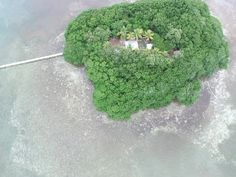 This is an aerial video of Little Money Key in the Florida Keys.