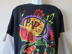 Mad T Party Alice in Wonderland T-Shirt Black Cast Exclusive Disneyland Black Size XL #Disney #Disneyland   www.guppy64.com