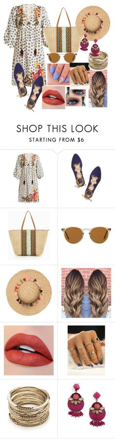 """""""Untitled #617"""" by ancamlk ❤ liked on Polyvore featuring Velvet by Graham & Spencer, Tory Burch, ALDO, Oliver Peoples, Sole Society and BaubleBar"""