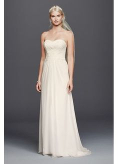 Chiffon Lace Sweetheart Wedding Dress  WG3793 with an added cap sleeve thin lace thing