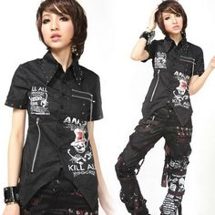 Visual Kei Gothic Dolly Cosplay KERA Lolita shirt Japan fashion 71213