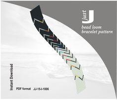 Bead loom pattern, PDF seed bead, loom pattern, beading instant, pattern Digital, jewlery pattern, beaded loom jewelry, beading tutorial