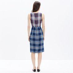 Indigo Plaid Dress