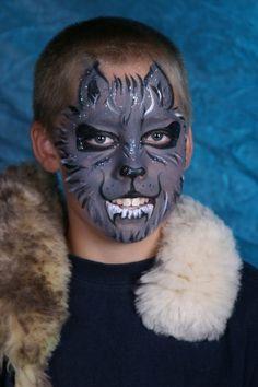 Motiv-Set Wolf, Schminke für das Gesicht