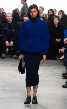 Schouler RF14 1590 Cocoon - azul eléctrico - falda pantorrilla