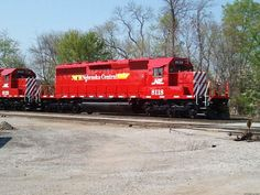 One of two Nebraska Central units being shipped from NRE in Silvis, IL on the Iowa Interstate's BICB/NS combined train. The units will interchange with UP in Council Bluffs to send to homerails in Grand Island, NE. 4/1/12