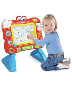Buy Chad Valley PlaySmart Interactive Magnetic Easel at Argos.co.uk - Your Online Shop for Arts, crafts and creative toys, Pre-school creative toys.