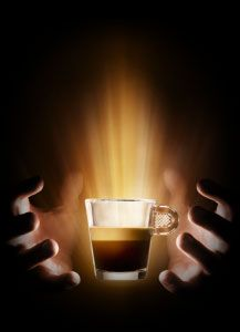 How I see my first cup of coffee every morning...Aaahhh, Nespresso.
