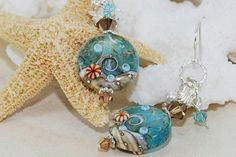 Ocean Wave Earrings Lampwork Beach Wave Earrings Ocean Jewelry Beach Jewelry Aqua Blue Sea Glass Pendant Mermaid Necklace Beach Fashion Gift by ornatetreasures on Etsy https://www.etsy.com/listing/158415072/ocean-wave-earrings-lampwork-beach-wave