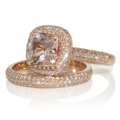 Rose Gold Diamond Engagement Ring - Wedding Stuff