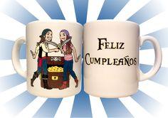 regalo de cumple #personalizado #desayuno #breackfast #mug #regalo #present #piratas #pirates #caribbean #caribe