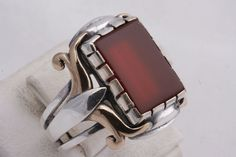 Turkish Handmade Ottoman 925 Sterling Silver Agate Mens Ring Size 11 | eBay