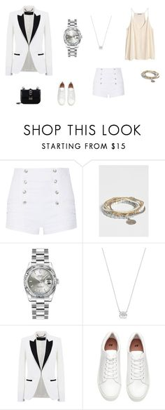 """""""Без названия #1635"""" by newyorkstylrer ❤ liked on Polyvore featuring H&M, Pierre Balmain, maurices, Rolex, Betsey Johnson, Barbara Bui and Valentino"""