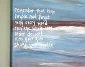 Items similar to SALE Canvas painting of quotes with painted seascape. Beach sayings on wrapped canvas. Canvas quotes. Original painted canvas. Beach decor on Etsy