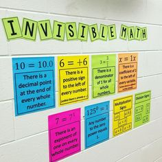 Invisible Math Posters by Middle School Math resources Photo Credit: thebrightsi- Math Strategies, Math Resources, Algebra Activities, Math Games, Math Teacher, Teaching Math, Maths Guidés, Math Math, Math Fractions