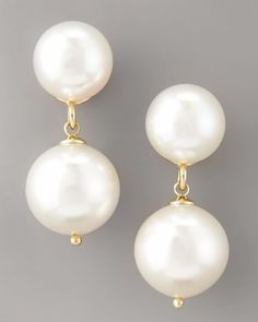 White+Pearl+Drop+Earrings+by+Majorica+at+Neiman+Marcus.