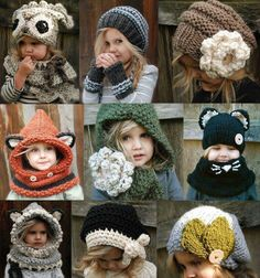 Gorros tejidos niños