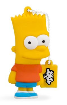 Bart Simpson - Officially licensed USB flash drive, available in 8GB and 16GB USB 2.0 and 16GB USB 3.0
