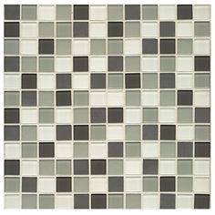 "Found it at AllModern - City 0.94"" x 0.94"" Glass Mosaic Tile in Roxbury"