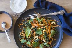 Carrot, date, mint and seed salad