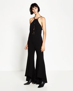 So long, LBD — this flared jumpsuit is way more fun.Zara Lace Jumpsuit, $99.90, available at Zara....