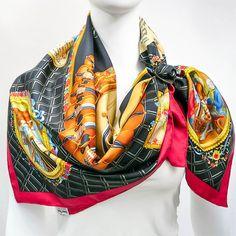 Authentic Vintage Hermes Silk Scarf Hommage a Mozart Julia Abadie