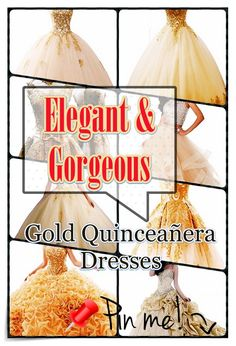 Tips on how to pick out Gold Quinceanera dress for the Quinceanera party -- the original Latin American ritual that represents the passage of a woman from childhood to adulthood. Quinceanera Party, Quinceanera Dresses, Dream Party, Timeless Beauty, Girl Birthday, Elegant, Gold, Sweet Sixteen, Pointers